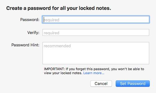 آموزش قرار دادن رمز بر روی یادداشت های اپل + تصاویر