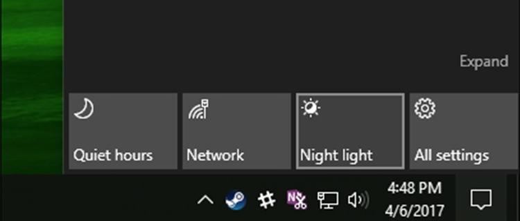 آموزش فعالسازی Night Light در ویندوز 10 + تصاویر