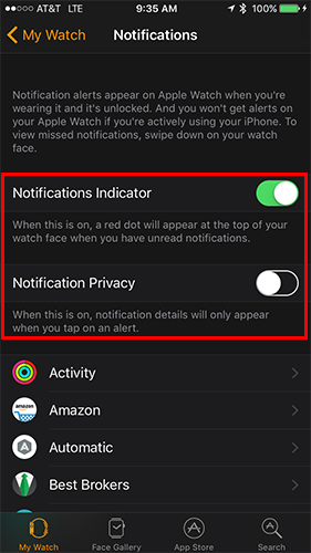 سفارشیکردن نوتیفیکیشنهای اپلواچ در iPhone + تصاویر