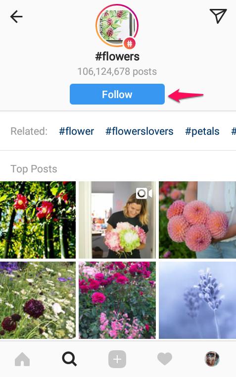 آموزش فالو کردن از طریق هشتگ اینستاگرام + تصاویر