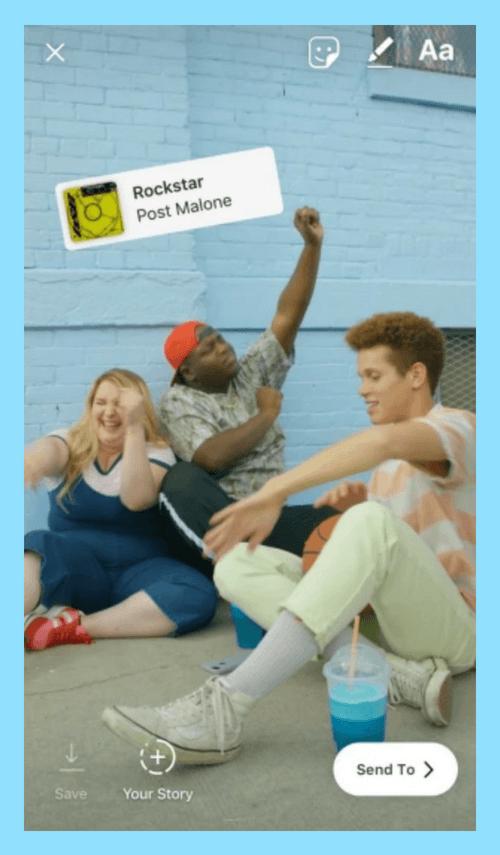 روش اضافه کردن موزیک به استوری های متنی و تصویری اینستاگرام