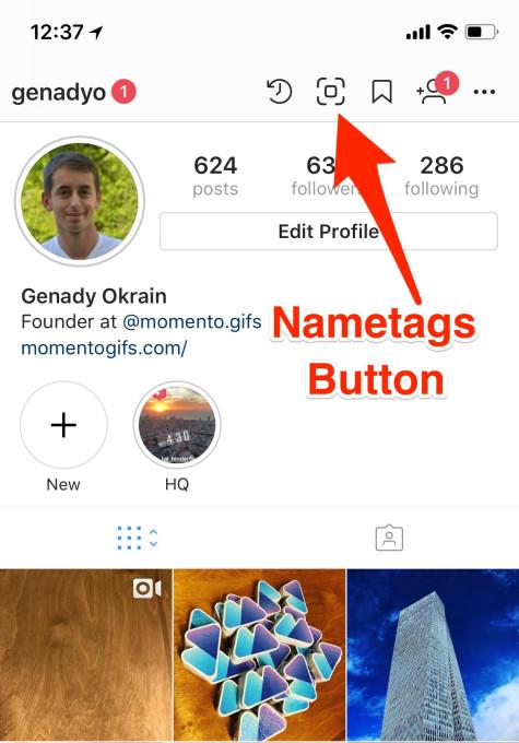 معرفی قابلیت جدید NameTags اینستاگرام + تصاویر