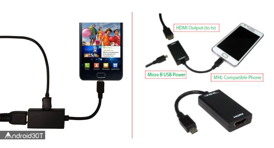 چگونه گوشی موبایل را به تلویزیون متصل کنیم