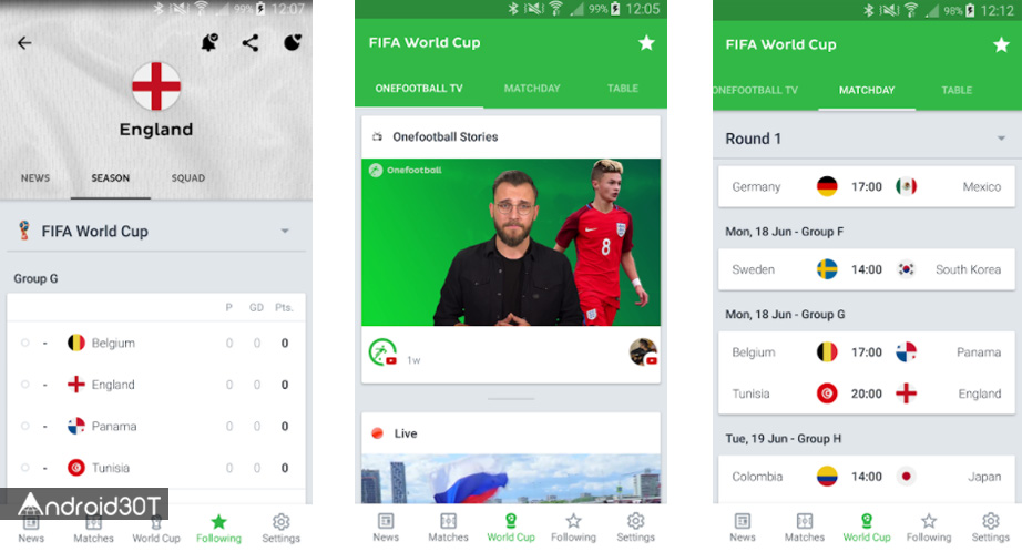 بهترین اپلیکیشنهای فوتبالی برای جام جهانی 2018