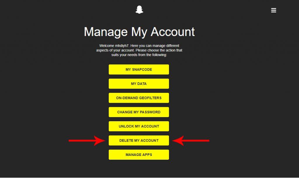 آموزش پاک کردن حساب کاربری اسنپ چت   (دیلیت اکانت) + تصاویر