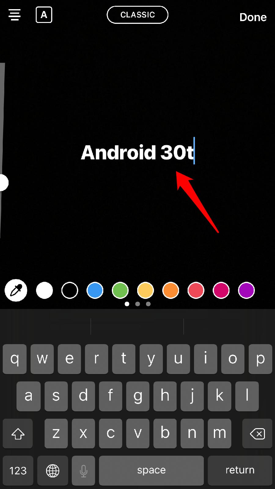آموزش تایپ رنگی در استوری های اینستاگرام + تصاویر